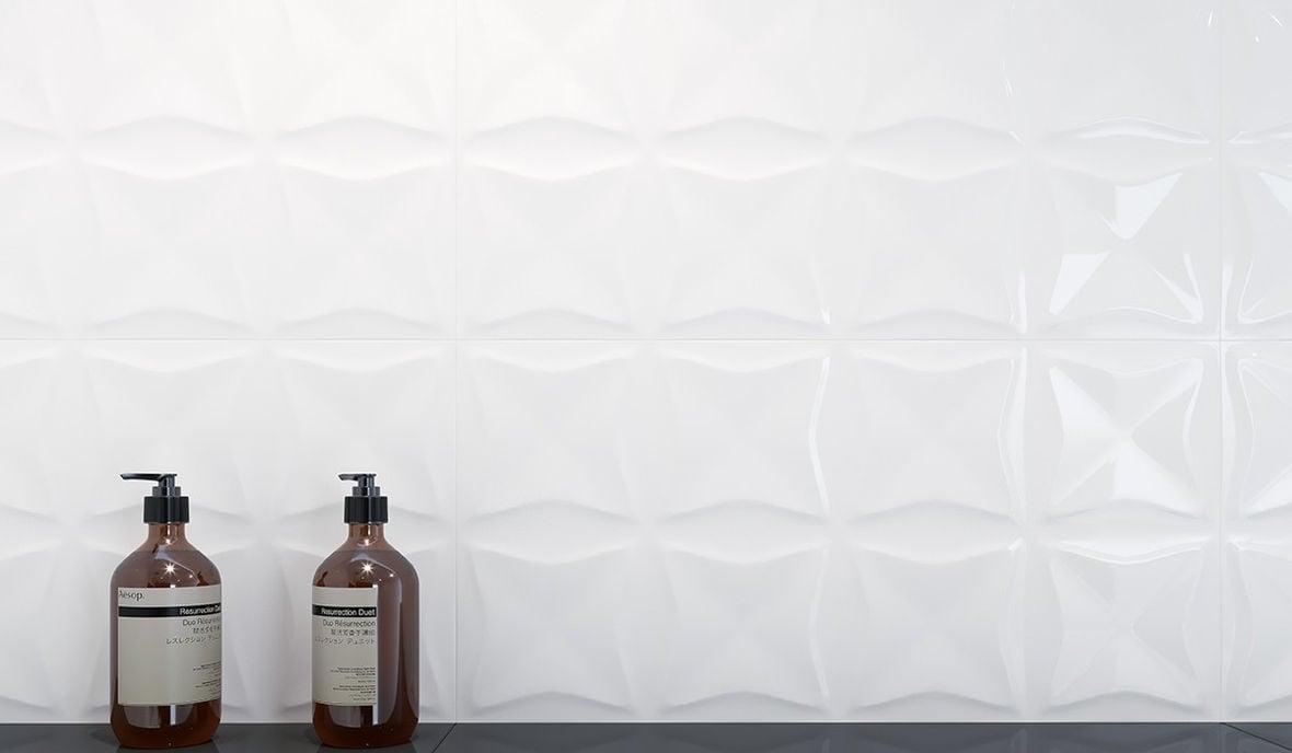 WHITE GLOSSY ORIGAMI STR 29X59,3 G1