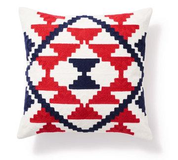 PODUSZKA AZTEC RED-BLUE 45X45