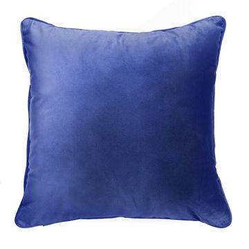 PODUSZKA VELVET BLUE 45X45