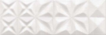 DELICATE LINES WHITE GLOSSY STR 25X75 G1