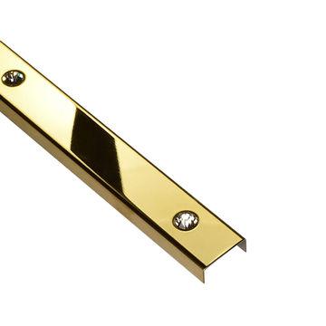 LIST DO GLAZ OZDOB PD GOLD 23MM SWAROVS