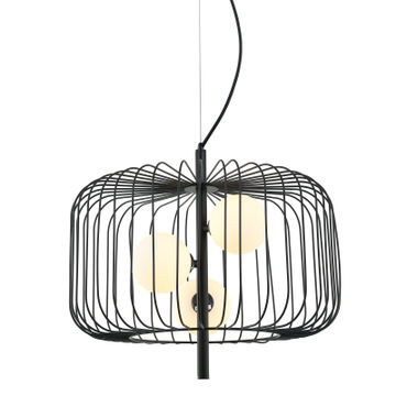 LAMPA DAREN E14 3X25W CZARNY