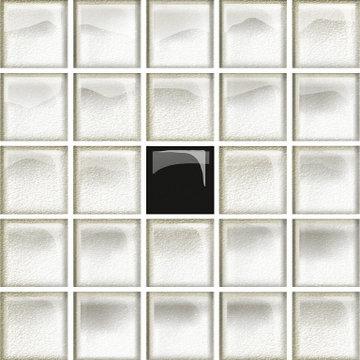 GLA WHITE/BLACK  A N 14,8X14,8 OD660-116